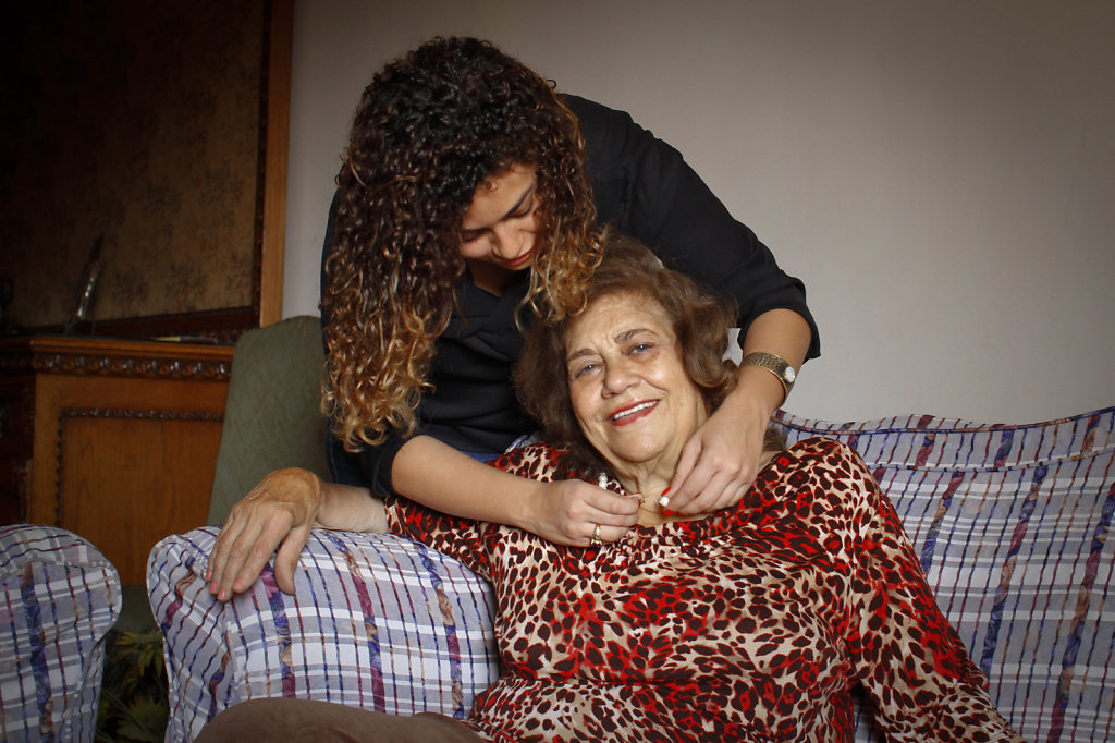 She was one of the pioneer women who worked at the National Bank of Egypt, while it was  Italian, and, she is about 75 years old and still living for her grandkids, sharing them their smallest details, and  learning them how to live their life perfectly a